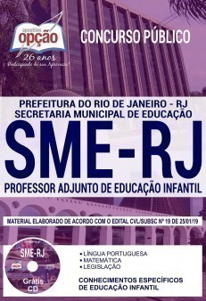 Apostila Concurso SME RJ 2019 Professor de Educação Infantil