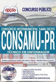 Apostila Concurso CONSAMU PR 2019 PDF e Impressa Técnico em Enfermagem