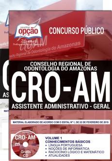 Apostila Concurso CRO AM 2019 PDF e Impressa Assistente Administrativo Geral