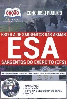 Apostila Concurso ESA 2019 PDF e Impressa Curso de Sargentos do Exército
