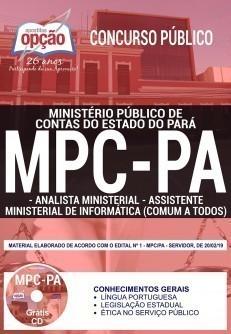 Apostila Concurso MPC PA 2019 PDF e Impressa Analista Ministerial e Assistente Ministerial de Informática