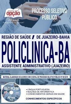 Apostila Concurso Policlínica BA 2019 PDF e Impressa Assistente Administrativo