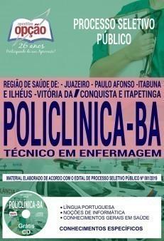 Apostila Concurso Policlínica BA 2019 PDF e Impressa Técnico em Enfermagem