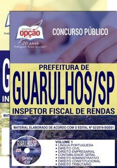 Apostila Concurso Prefeitura de Guarulhos 2019 PDF e Impressa Inspetor Fiscal de Rendas