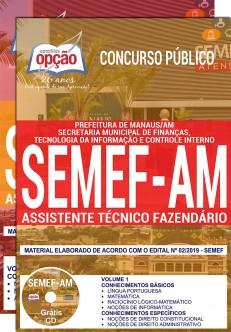 Apostila Concurso SEMEF AM 2019 PDF e Impressa Assistente Técnico Fazendário