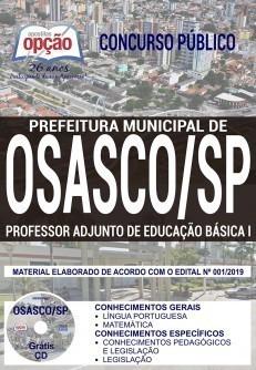 Apostila Concurso Prefeitura de Osasco 2019 PDF e Impressa Professor Adjunto de Educação Básica