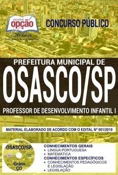 Apostila Concurso Prefeitura de Osasco 2019 PDF e Impressa Professor de Desenvolvimento Infantil