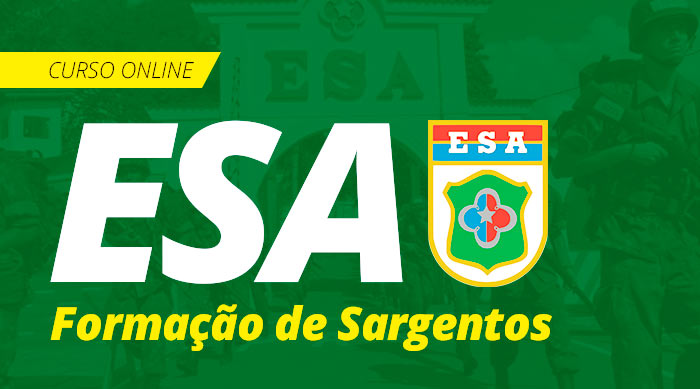 Curso Online ESA 2019 Grátis Curso de Sargentos Grátis!