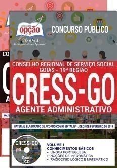 Apostila CRESS GO 2019 Agente Administrativo PDF e Impressa