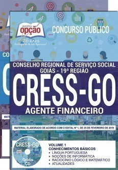 Apostila CRESS GO 2019 Agente Financeiro PDF e Impressa