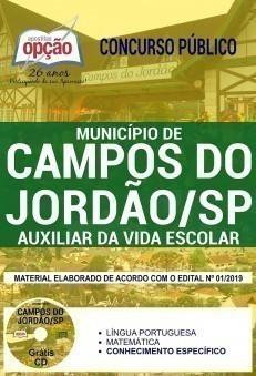 Apostila Prefeitura de Campos do Jordão 2019 Auxiliar da Vida Escolar PDF e Impressa