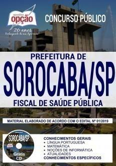 Apostila Prefeitura de Sorocaba 2019 Fiscal de Saúde Pública PDF e Impressa