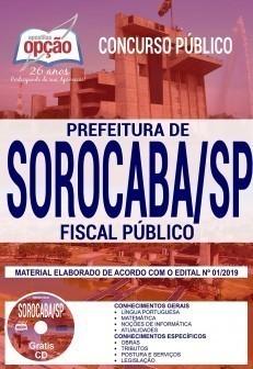 Apostila Prefeitura de Sorocaba 2019 Fiscal Público PDF e Impressa