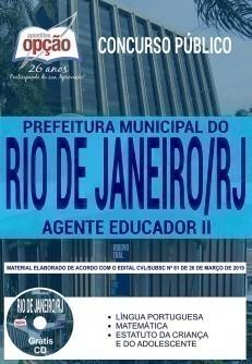 Apostila Prefeitura do Rio de Janeiro 2019 PDF e Impressa Agente Educador II