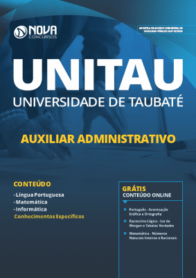 Apostila UNITAU 2019 Auxiliar Administrativo PDF e Impressa