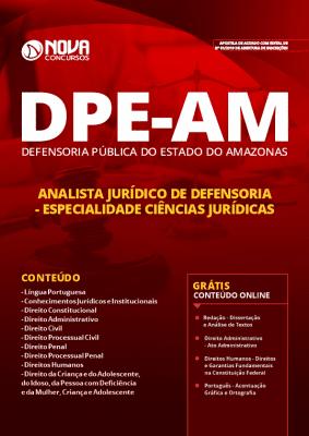 Apostila Concurso DPE AM 2019 Analista Jurídico de Defensoria Especialidade Ciências Jurídicas Grátis Cursos Online