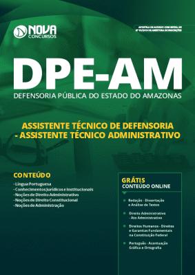 Apostila Concurso DPE AM 2019 Assistente Técnico de Defensoria Grátis Cursos Online