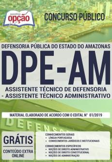 Apostila DPE AM 2019 Assistente Técnico de Defensoria PDF e Impressa