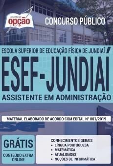 Apostila Concurso ESEF Jundiaí 2019 Assistente em Administração