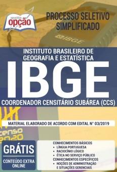 Apostila Concurso IBGE 2019 Coordenador Censitário Subárea PDF e Impressa