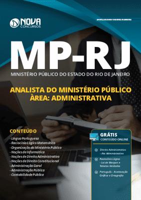 Apostila Concurso MP RJ 2019 Analista do Ministério Público Área Administrativa Grátis Cursos Online