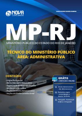 Apostila Concurso MP RJ 2019 Técnico do Ministério Público Área Administrativa Grátis Cursos Online