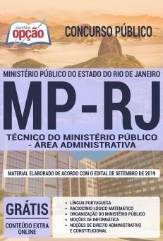 Apostila Concurso MP RJ 2019 Técnico do Ministério Público Área Administrativa PDF e Impressa
