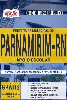 Apostila Concurso Prefeitura de Parnamirim 2019 Apoio Escolar