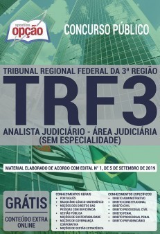 Apostila TRF 3ª Região Analista Judiciário Área Judiciária