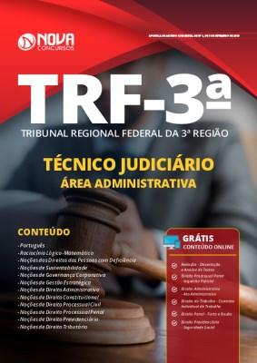Apostila Concurso TRF 3 2019 Técnico Judiciário Área Administrativa Grátis Cursos Online