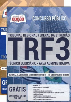 Apostila TRF 3ª Região Técnico Judiciário Área Administrativa