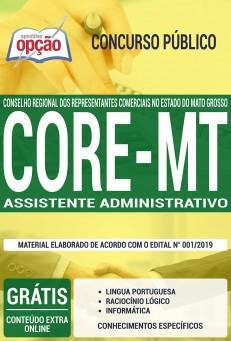 Apostila Concurso CORE MT 2019 Assistente Administrativo PDF e Impressa