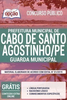 Apostila Guarda Municipal Cabo de Santo Agostinho 2019 PDF e Impressa