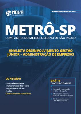 Apostila Metrô SP 2019 Administração de Empresas PDF e Impressa
