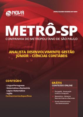 Apostila Metrô SP 2019 Analista Desenvolvimento Gestão Júnior em Ciências Contábeis