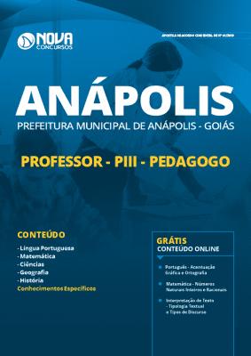 Apostila Prefeitura de Anápolis 2019 Professor Pedagogo