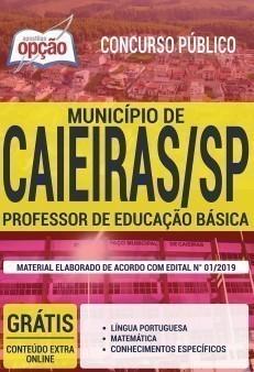 Apostila Prefeitura de Caieiras 2019 PDF e Impressa