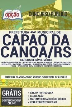 Apostila Prefeitura de Capão da Canoa 2019 PDF e Impressa