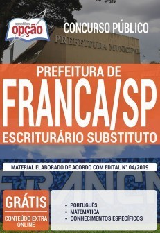 Apostila Prefeitura de Franca 2019 PDF e Impressa