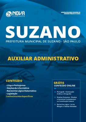 Apostila Prefeitura de Suzano 2019 Auxiliar Administrativo PDF e Impressa
