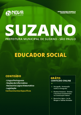 Apostila Prefeitura de Suzano 2019 Educador Social PDF e Impressa