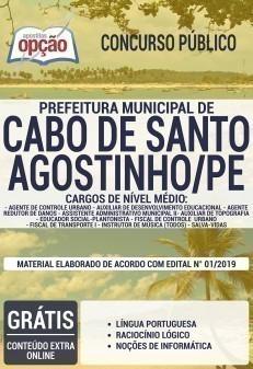 Apostila Prefeitura do Cabo de Santo Agostinho 2019 PDF e Impressa