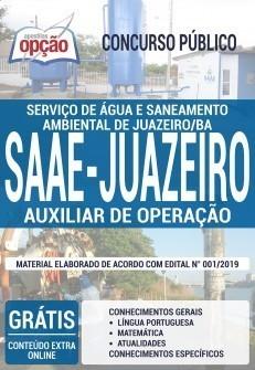 Apostila SAAE Juazeiro BA 2019 PDF Download e Impressa