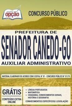 Apostila Concurso Senador Canedo 2019 PDF e Impressa