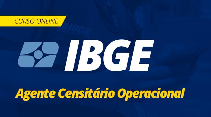 Curso Online IBGE 2019 Agente Censitário Operacional Completo