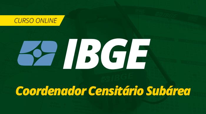 Curso Online IBGE 2019 Coordenador Censitário Subárea