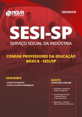 Apostila Concurso SESI SP 2019 Professor da Educação Básica Grátis Cursos Online