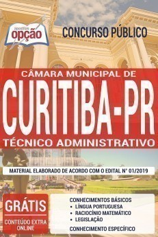 Apostila Concurso Câmara de Curitiba 2019 Técnico Administrativo PDF e Impressa