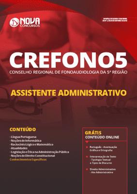 Apostila Concurso CREFONO5 2019 Assistente Administrativo Grátis Cursos Online