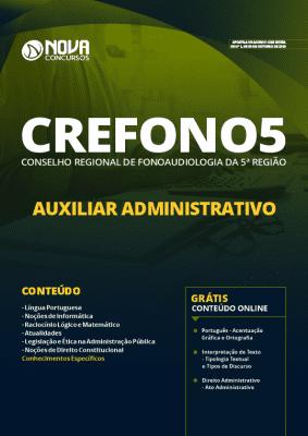 Apostila Concurso CREFONO5 2019 Auxiliar Administrativo Grátis Cursos Online
